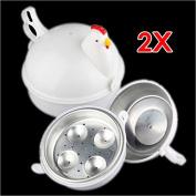Sonline Plastic Chicken Microwave 4 Egg Boiler Steamer Poacher Boiler Cooker Kitchen Tool