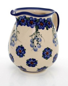 Classic Boleslawiec Pottery Hand Painted Ceramic Milk, Cream Jug 250ml 514-U-001