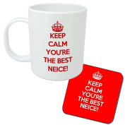 Keep Calm You're The Best Neice Mug And Coaster Gift Set - Great present idea for any Neice - Christmas or Birthday.