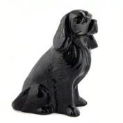 Quail Ceramics - Cocker Spaniel Figure Egg Cup - Black