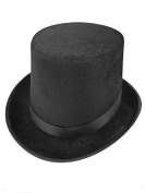JJMS Brand Fantastic Black Top Hat Great Quality Hard Felt top Hat Delivered By Amazon