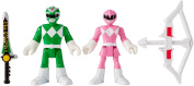 Fisher-Price Imaginext Mighty Morphin Power Rangers - Green Ranger and Pink Ranger Toy Figure