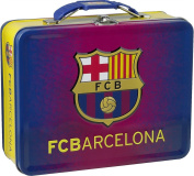 Officially Licenced Embossed FC Barcelona Tin Lunch Box