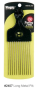 Magic Collection Styling Afro Pik Comb Long Metal Untangle/Style/Lift. No 2407