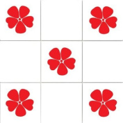Vinylworld Poppies kitchen / bathroom wall tile decal stickers x12