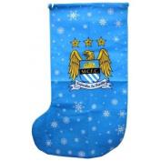 Manchester City Novelty Christmas Jumbo Present Stocking (One Size)