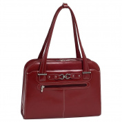 McKleinUSA OAK GROVE 96636 Red Leather Fly-Through Checkpoint-Friendly Ladies' Briefcase
