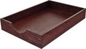 Carver Hardwood Stackable Desk Tray, Legal Size, 16.25 x 28cm x 7cm , Mahogany Finish