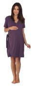 The Bamboo Birthing Wrap - Dark Plum - Large (Pre-preg UK 14/16) For Pregnancy, Labour & Breastfeeding