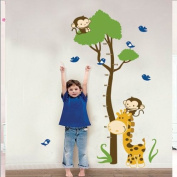 BestOfferBuy Giraffe Growth Chart Wall Sticker Decal JM7132