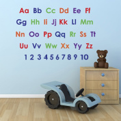 Alphabet and Numbers Wall Sticker Pack - Educational Nursery Stickers