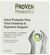 Vega Proven Probiotic Total Intestinal and Digestive support Powder - Pack of 14 Sachets