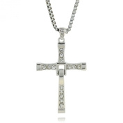 Jiayiqi Popular Same Style of The Fast and the Furious Cross Pendant Chain Necklace