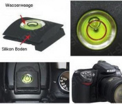 tinxi 2 in 1 Hot Shoe Protective Cover and Spirit Level for Nikon Canon Olympus Pentax Fuji DSLR / SLR Cameras