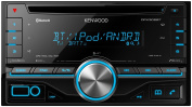 Kenwood DPX-306BT Double-Din Car Stereo with Built-In Bluetooth Handsfree