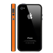 Celebrated Quality G4GADGET® Iphone 4 4G 4S Silicon Bumper Orange/Black