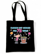 Blowing Out Candles for 73 Years 73rd Birthday Tote / Shoulder Bag