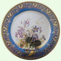 Googe Violet Painted Tin Enamel Museum Plate - Picnic or Camping