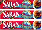 Saran Premium Plastic Wrap, 9.3sqm 3 Pack