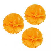 Wrapables Tissue Pom Poms Party Decorations for Weddings, Birthday Parties, Baby Showers and Nursery Decor, Orange, 30cm , Set of 3