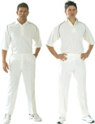New Cricket Batting Trousers Match Whites Plain Polyester Flannels Unhemmed