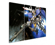 Picture - ART ON CANVAS PRINT Gundam_Robot 3 parts ( 120cm x 90cm ) Pictures completely framed on large frame. Art print Images realised as wall picture on real wooden framework. A canvas picture is much less expensive than an oil painting poster or ..