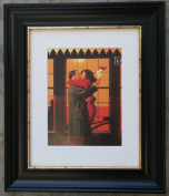Back Where You Belong by Jack Vettriano Framed Art Print Picture (33cm x 28cm) Black Frame