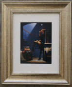 Dancer For Money by Jack Vettriano Framed Art Print Picture (33cm x 28cm) Silver Frame