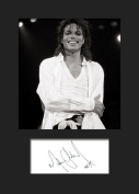 Michael Jackson #1 Signed Mounted Photo A5 Print