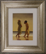 Trailing Toes by Jack Vettriano Framed Art Print Picture (33cm x 28cm) Silver Frame