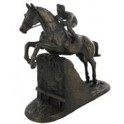 Steeple Chaser 28.5cm High Cold Cast Bronze Horse Racing Sculpture by Harriet Glen