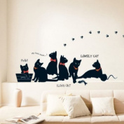 Lovely Cats Wall Sticker Paper Family DIY Removable Mural Art Decal Home Decor By FamilyMall