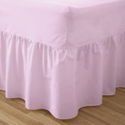 Love2Sleep EGYPTIAN COTTON HOTEL QUALITY VALANCE SHEET PINK - SINGLE BED SIZE