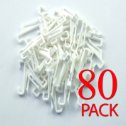 New 80pk glide solo curtain plastic hook sologlide track