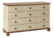 NJA Furniture Designer 2 Plus 3 Plus 4-Drawer Chest, 74 x 121 x 39 cm, Cream/ Pine