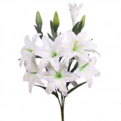 huge cream lilies, stargazer lily artificial flowers