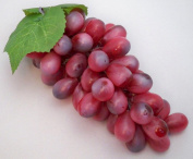 Large Bunch Artificial Red Grapes Decorative Fruits