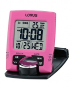 Lorus LHL031P Digital LCD Clock, Pink