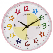 """Teach The Time"" Colourful Childrens Wall Clock"