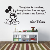 Mickey Mouse Laughter is Timeless Children's Wall Sticker Vinyl Mural Wall Art Décor - Regular Size
