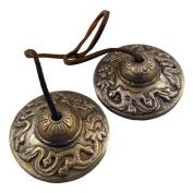 Tibetan Cymbals / Tingshas/ Meditation and Prayer Cymbals - Small