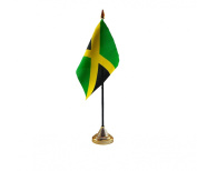 Jamaica Hand Table or Waving Flag Country Jamaican - No Base