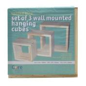 Natural Wall Cubes (Set of 3)