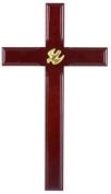 Christian wood mahogany Holy Spirit Dove cross large 40cm wall hanging gift