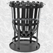 GARDEN BRAZIER - WOOD BURNER WITH BARBECUE GRILL