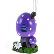 Purple Smoking Toadstool Incense Cone Burner by Lisa Parker