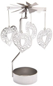 Hearts Tealight Powered Metal Spinning Decoration SPIN12