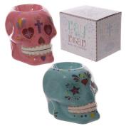 Candy Skull Day of the Dead Ceramic Oil Burner