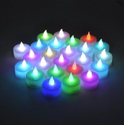 Domire 12 Pcs LED Candles, Flameless Tea Lights for Decoration, Festivals, Weddings with Batteries