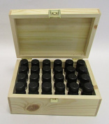 Essential Oil Starter Pack In Wooden Gift Box - 24 x 10ml - 100% Pure